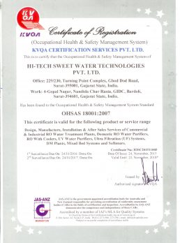 ISO 18001-2007 ISO Valid upto 23-11-2018