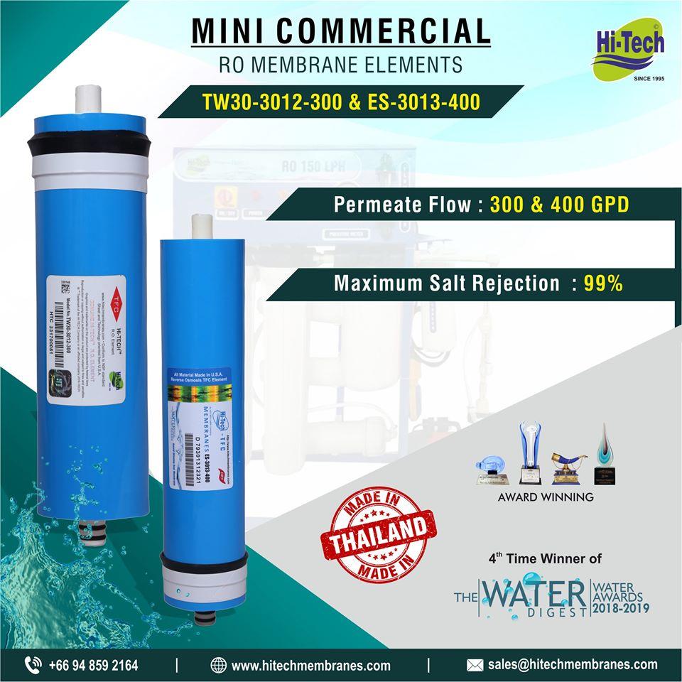 RO membrane Elements TW-30-3012-300 and ES-3013-400