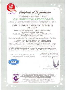 ISO 14001-2004 Valid upto 23-11-2018